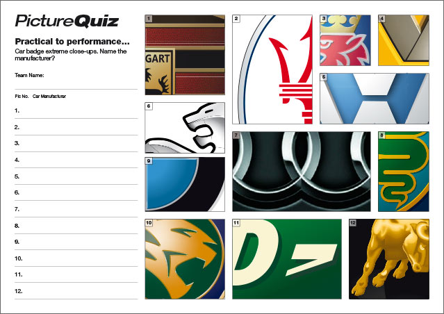 Quiz 57 Car Badges
