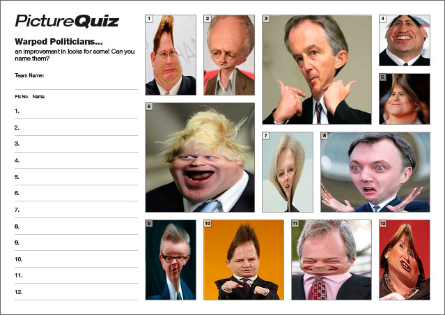 Quiz 059 Warped Politicians