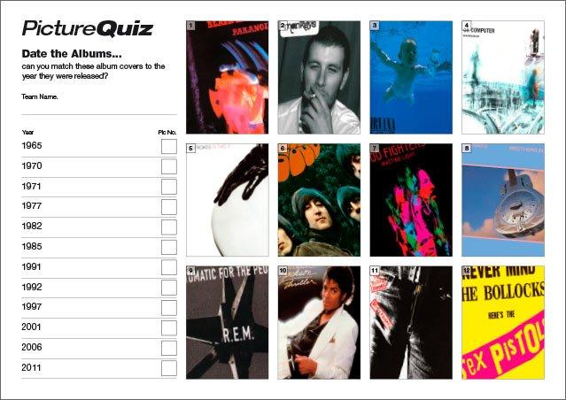 Quiz 063 Date the Albums