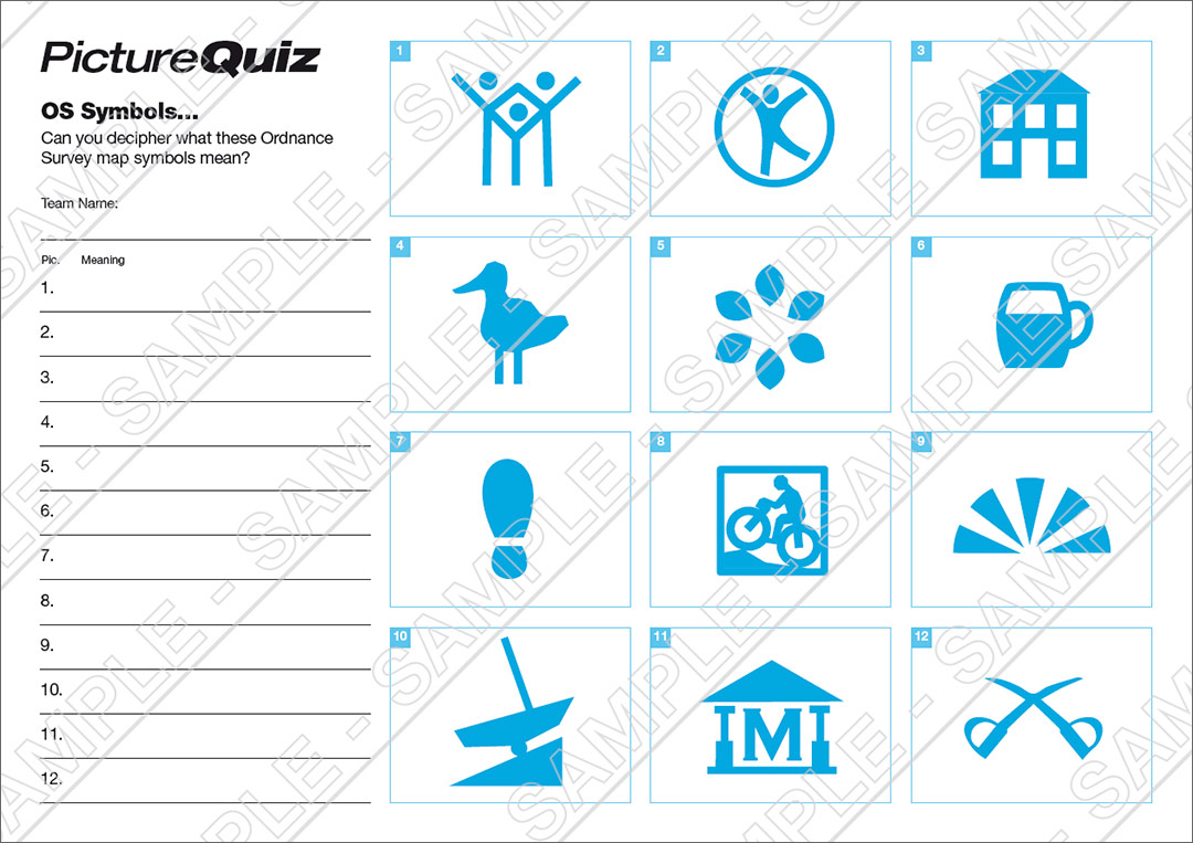 Quiz Number 010 With Os Map Symbols Picture Round