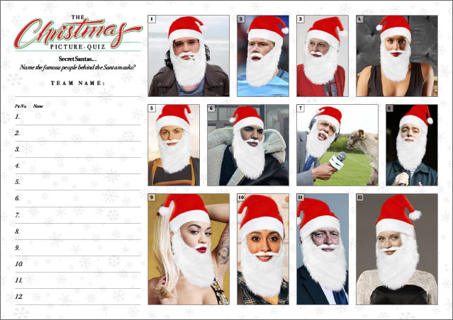 Xmas Quiz 02 Picture Round is Secret Santas II