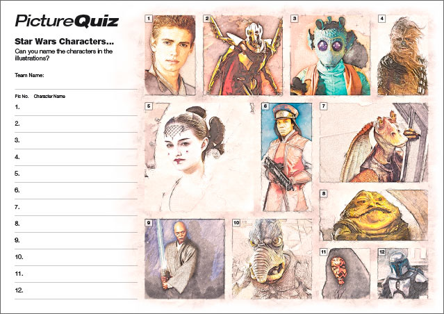 Quiz 001s Picture Round – Star Wars Characters