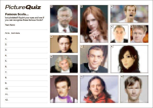 Q114s Famous Scots Picture Round