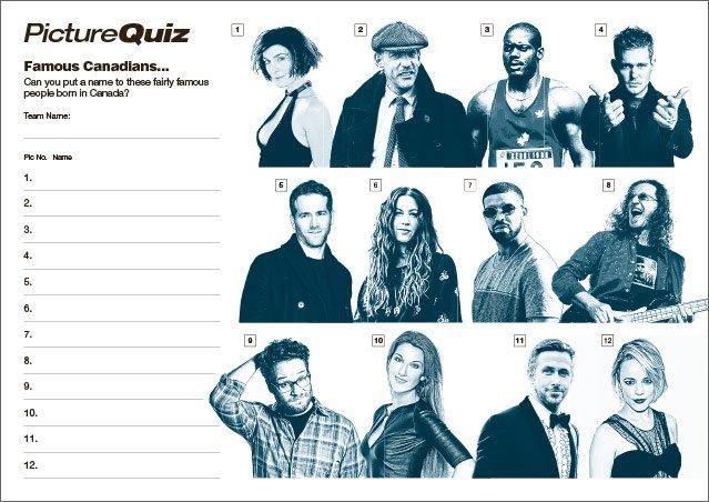 Q128s Famous Canadians Picture Round