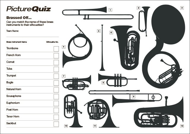 Quiz 131s Brass Instruments Picture Round