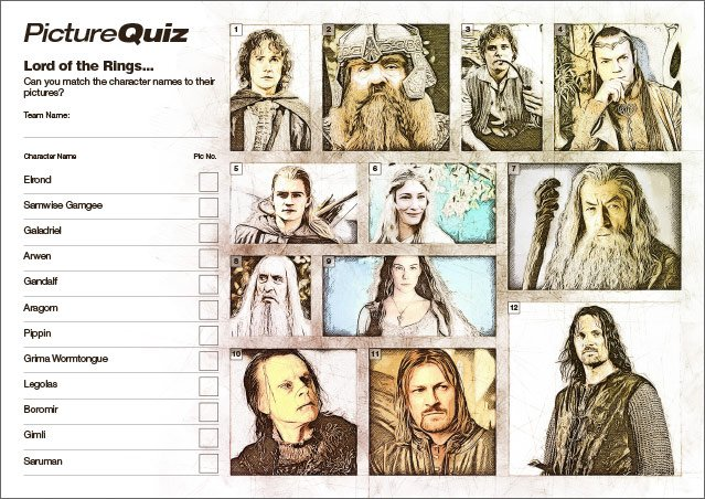 Quiz 132's Lord of the Rings Picture Round