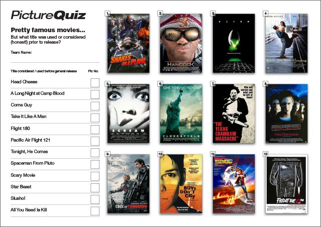 Q146s Movies Almost Titled Picture Round